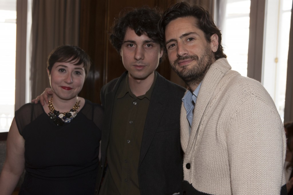 Elena Medel con Jon†s Trueba y Juan Diego Botto