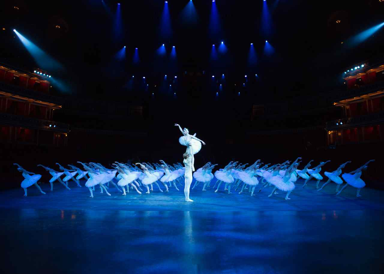 English National Ballet, Swan Lake in the round technical rehearsal