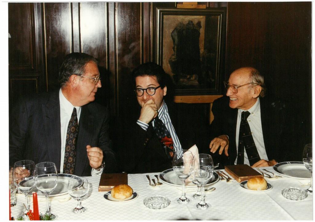 Enrique Loewe, Luis Antonio de Villena y Carlos Bousoño